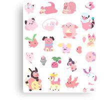 Pink Pokemon Canvas Print