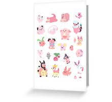 Pink Pokemon Greeting Card