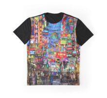 Hong Kong City Nightlife Graphic T-Shirt