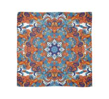 Orange & Blue Boho Mandela Pattern Scarf