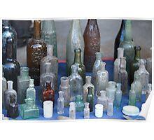 antique wine bottles Poster