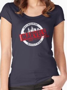 Melbourne Marvel Participent Range red Women's Fitted Scoop T-Shirt