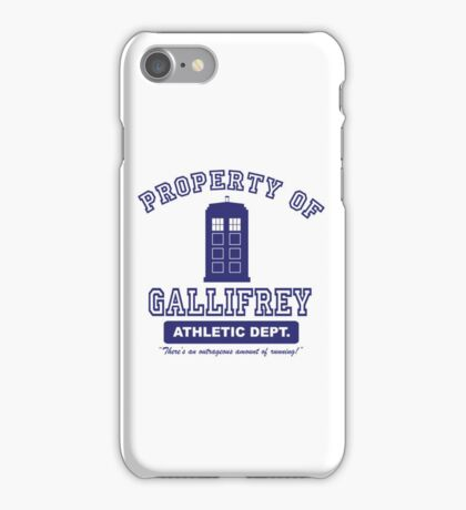 Property of Gallifrey Athletics iPhone Case/Skin