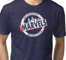 Melbourne Marvel Participent Range white Tri-blend T-Shirt
