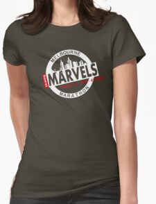 Melbourne Marvel Participent Range white Womens Fitted T-Shirt