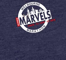 Melbourne Marvel Participent Range white Tri-blend T-Shirt