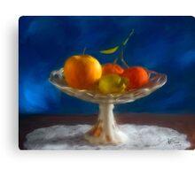 Apple, lemon and mandarins. Canvas Print