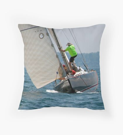 Acrobatics onboard Aluette Throw Pillow