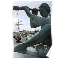 Tall Ship in Whitehaven Poster
