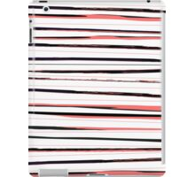 Beautiful old-fashion Stripes Watercolor Black and Red Pattern iPad Case/Skin