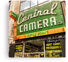 central camera Canvas Print