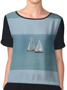 Sailing Boats on the Sea Chiffon Top