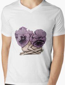 Blossoming Belle Mens V-Neck T-Shirt