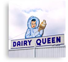 dairy queen's eskimo girl Canvas Print