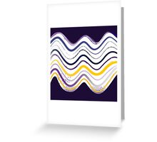 Beautiful old-fashion Watercolor Waves Contemporary Art Greeting Card