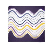 Beautiful old-fashion Watercolor Waves Contemporary Art Scarf