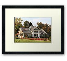 Farmhouse autumn Framed Print