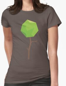 Nature Green Digital Leaf Womens Fitted T-Shirt