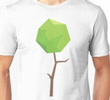 Green Elegant Digital Leaf Unisex T-Shirt