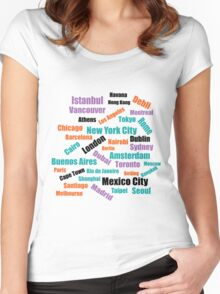 The Greatest Cities in the World Women's Fitted Scoop T-Shirt