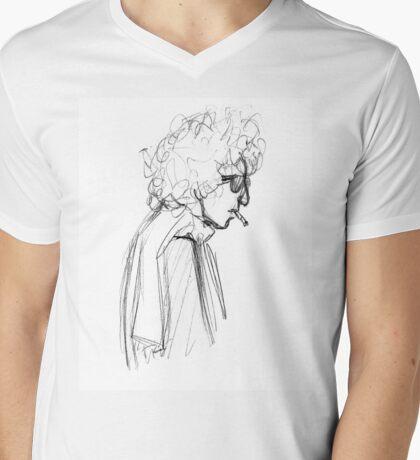 Ballad of a Sketched Man  Mens V-Neck T-Shirt