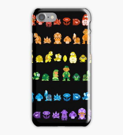 Rainbow Super Mario - Horizontal Version 2 iPhone Case/Skin