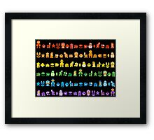 Rainbow Super Mario - Horizontal Version 2 Framed Print