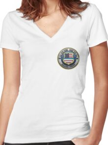 Dallas Police Officer Memorial Women's Fitted V-Neck T-Shirt