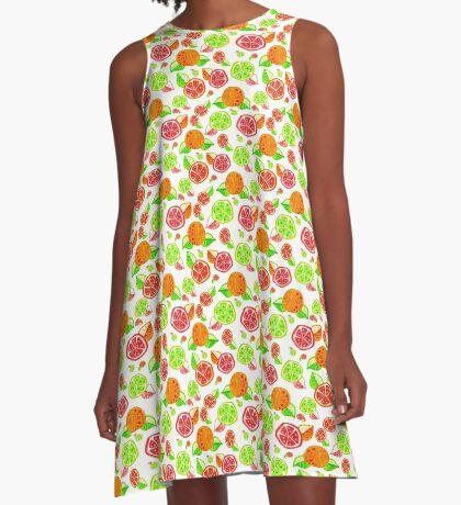 Colorful Citrus Pattern A-Line Dress