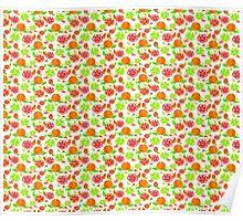 Colorful Citrus Pattern Poster