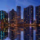 Miami Skyline at Twilight by DDMITR