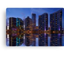 Miami Skyline at Twilight Canvas Print