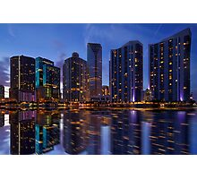 Miami Skyline at Twilight Photographic Print