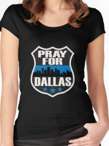 Pray For Dallas Women's Fitted Scoop T-Shirt