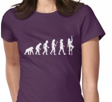 Funny Pole Dancing Stripper Evolution Womens Fitted T-Shirt