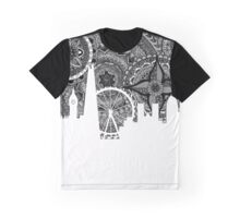 Zentangle City London [Black and white] Graphic T-Shirt