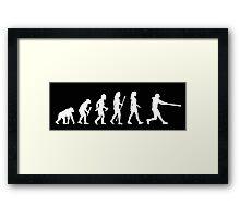 Womens Softball Evolution Framed Print