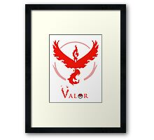 Pokemon Go - Valor Red Framed Print