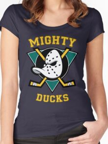 mighty ducks Women's Fitted Scoop T-Shirt