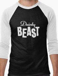Dainty Beast (light text) Men's Baseball ¾ T-Shirt