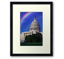 United States Capitol Building Framed Print