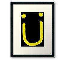 Jack U - Logo yellow Framed Print