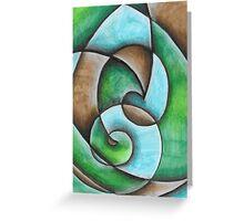Natural Abstract Artwork Greeting Card