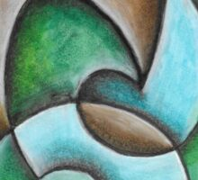 Natural Abstract Artwork Sticker