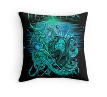 drowning heartless BLUE Throw Pillow