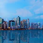 Miami Skyline at Twilight by DDMITR