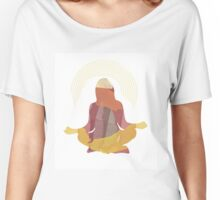"""Morning Prayer"" Watercolor Meditation Woman Women's Relaxed Fit T-Shirt"