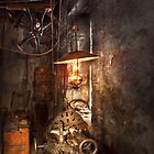 Machinist - Lathe - The corner of an old workshop by Mike  Savad