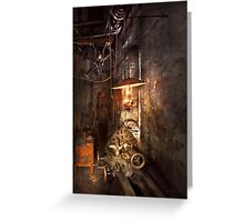 Machinist - Lathe - The corner of an old workshop Greeting Card