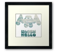 Marshmello Montage Framed Print